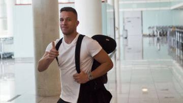 Arthur, a su llegada a Barcelona