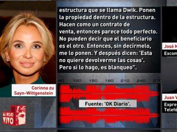 Conversación de Corinna con el comisario Villarejo