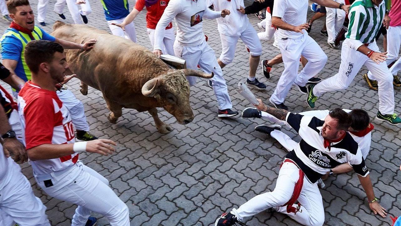 Los toros de Núñez del Cuvillo a su paso por el tramo de Telefónica