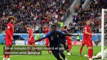 Así fue el decisivo gol de Umtiti que metió a Francia en la final del Mundial