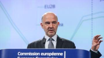 El comisario europeo de Asuntos Económicos, Pierre Moscovici