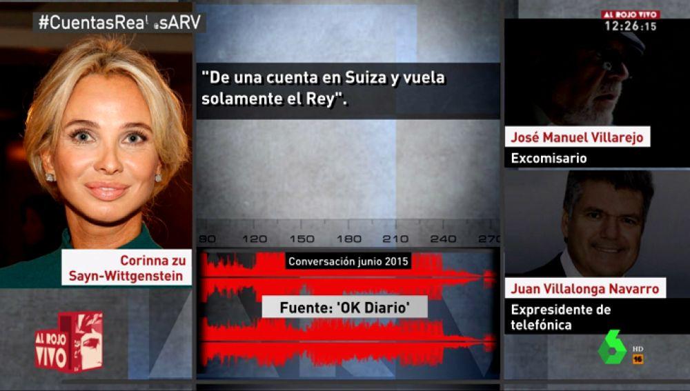 Grabaciones de Corinna con el comisario Villarejo