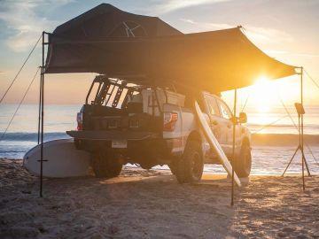 Nissan Titan XD Surfcamp: una pick-up para viajar con la casa a cuestas