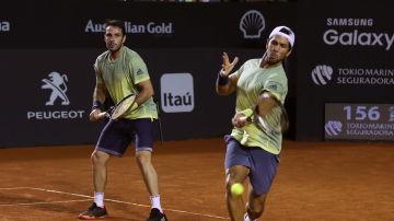 Marrero y Verdasco, durante un partido