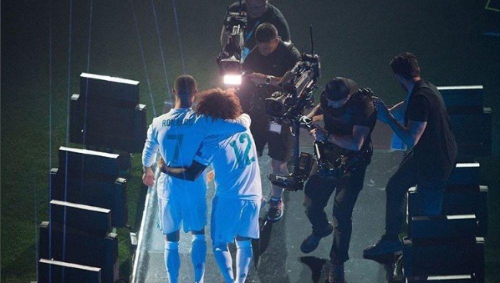 Marcelo y Cristiano, juntos en el Bernabéu