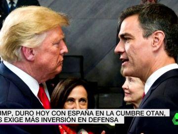 Donald Trump y Pedro Sánchez en la OTAN