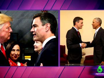 Donald Trump y Pedro Sánchez vs Obama y Pedro Sánchez