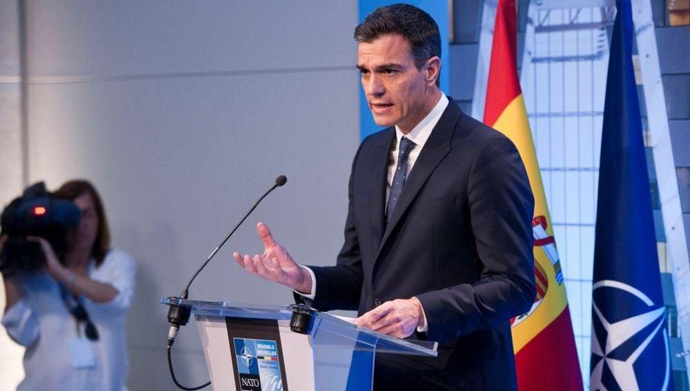El jefe del Gobierno español, Pedro Sánchez,