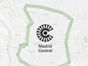 Mapa de la APR de Madrid Central