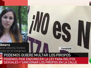 """Ione Belarra: """"Los piropos son una opinión que nadie ha pedido y que hay que erradicar de la sociedad"""""""