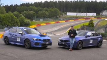Subaru WRX STI y BMW M3 CS en circuito