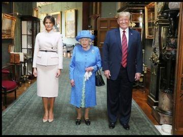 Los Trump con la reina Isabel II