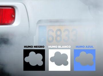 Colores de humo del coche
