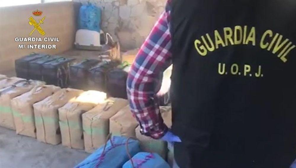 Guardia Civil intervienen la droga
