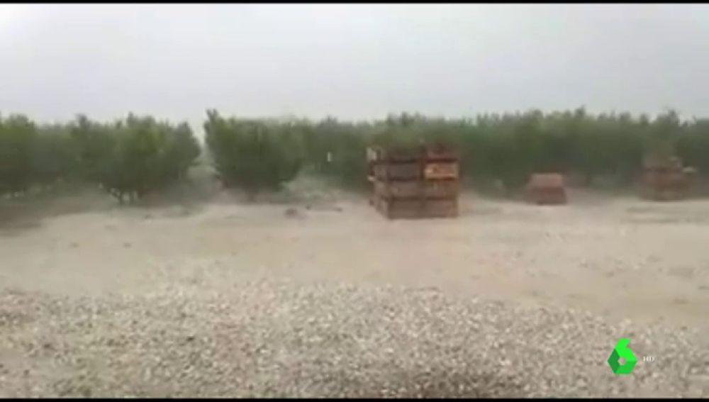 Imagen de las fuertes tormentas en Huesca