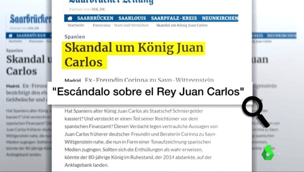 """""""Escándalo sobre el rey Juan Carlos"""": así recogen los medios internacionales las grabaciones de Corinna"""