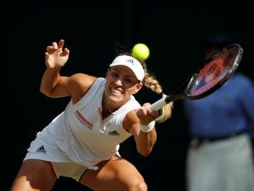 Angelique Kerber en la final de Wimbledon