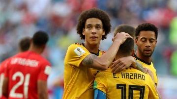 Hazard celebra su gol ante Inglaterra