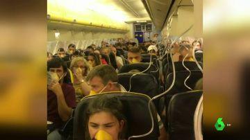 Pasajeros del vuelo de Ryanair que hizo un aterrizaje de emergencia en Alemania