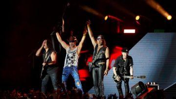 """La banda alemana de hard rock """"Scorpions"""", durante el concierto del Resurrection Fest 2018"""