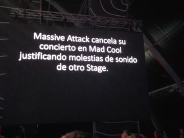 Aviso del 'Mad Cool' sobre la cancelación de Massive Attack