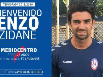 Enzo Zidane, nueva incorporación del Rayo Majadahonda
