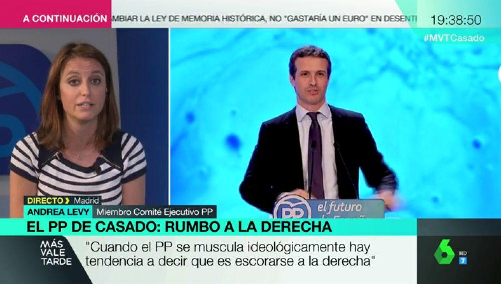 Andrea Levy en Más Vale Tarde.