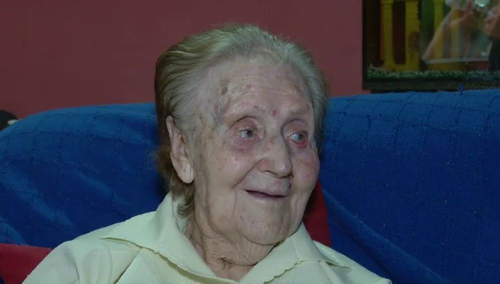 Eulalia, la anciana de 98 años cuya casa había sido okupada.