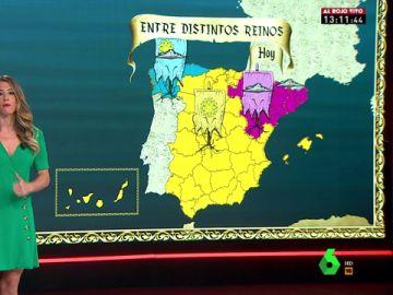 El tiempo divide a España en tres: el reino de las tormentas, el del sol y el de las nubes