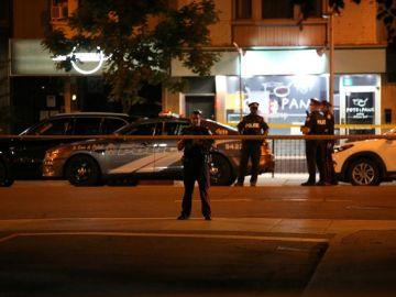 Policía la noche del tiroteo en Canadá