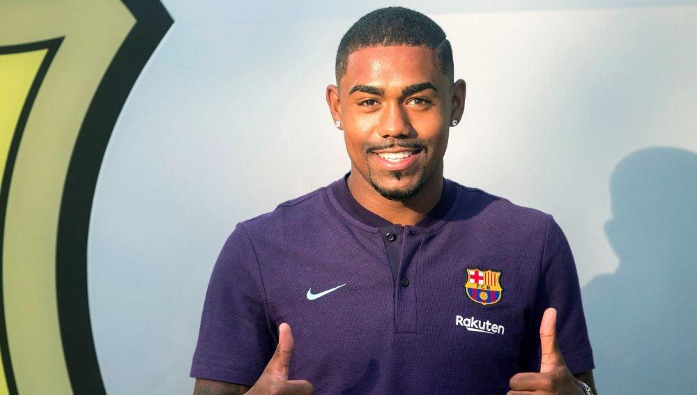 Malcom ya posa como jugador del Barcelona