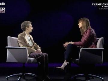 Margarita Salas con Sandra Sabatés en Mujer tenía que ser
