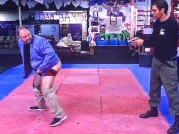Jason Spencer, congresista de Georgia, en el show de Sacha Baron Cohen