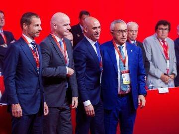 Luis Rubiales en su primera Asamblea General