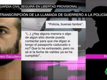 """El audio completo del guardia civil de 'La Manada' y la Policía sobre su pasaporte: """"No lo encuentro y no sé si está caducado"""""""
