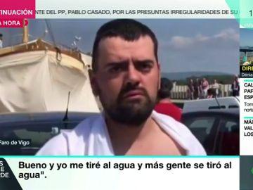 Uno de los pasajeros del catamarán turístico incendiado en Pontevedra