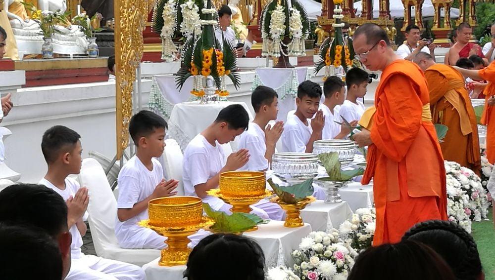 Los niños rescatados de Tailandia