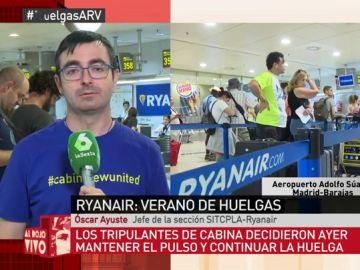 Tripulante de cabina de Ryanair, Óscar Ayuste