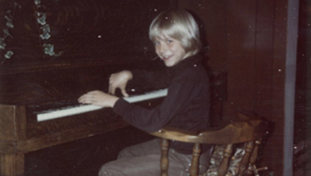 Foto de la infancia de Kurt Corbain, líder de Nirvana
