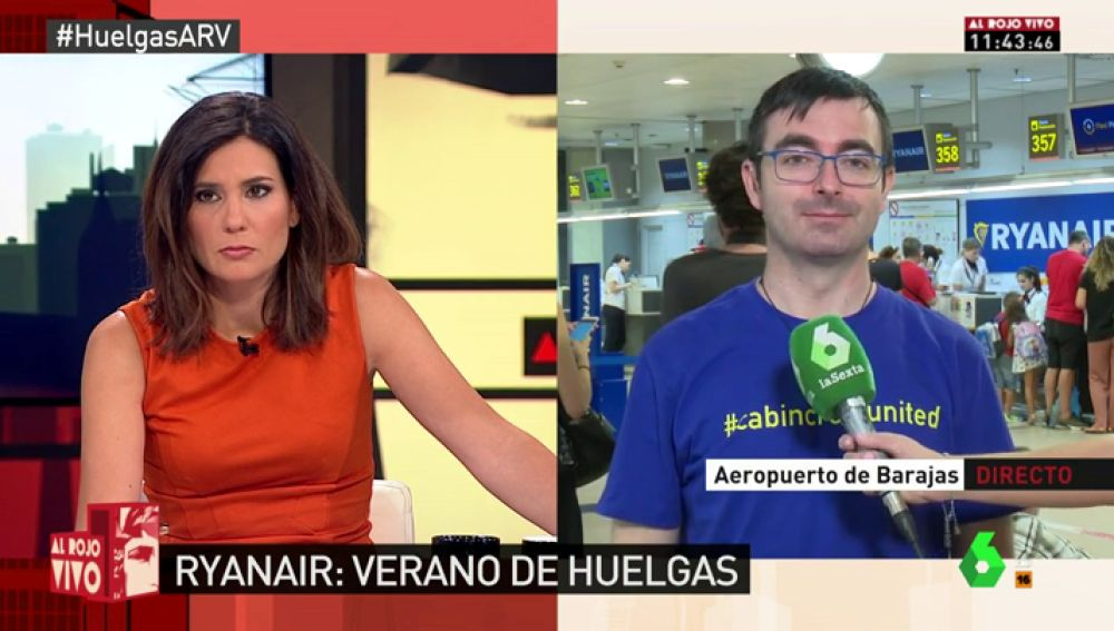 Óscar Ayuste, tripulante de cabina de Ryanair
