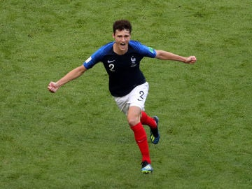 Pavard celebrando su gol ante Argentina