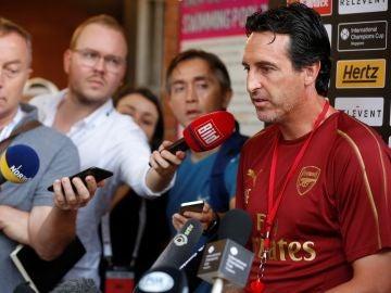 Unai Emery en rueda de prensa