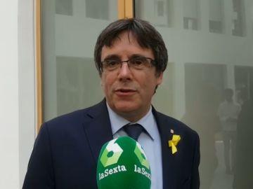 Carles Puigdemont habla con laSexta