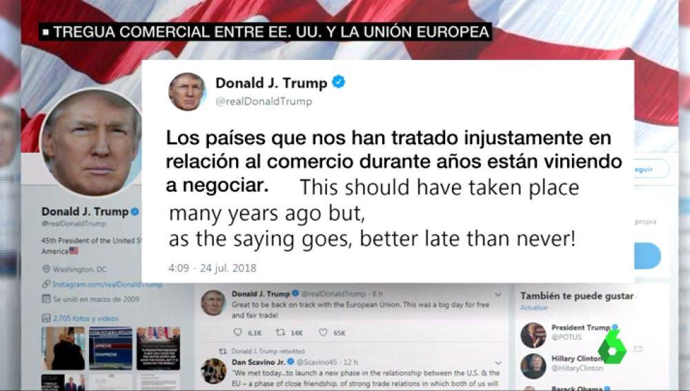 Tweet de Trump.