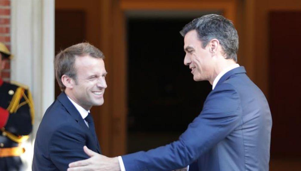 Pedro Sánchez y Macron