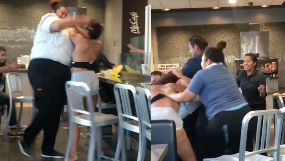 Paliza a una cliente de McDonald's