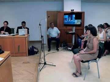 Juana Rivas, durante el juicio