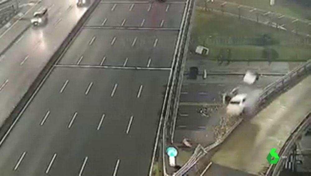 Impactante accidente en Argentina por circular a 170 kilómetros por hora