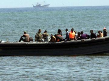Migrantes en patera
