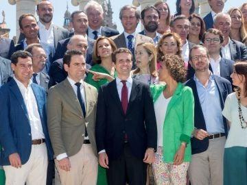 Los miembros de la nueva ejecutiva del PP